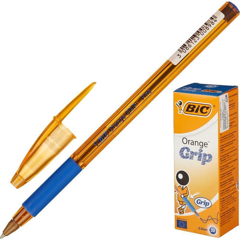 Ручка шариковая BIC Orange grip fine синяя толщина линии 0.35 мм