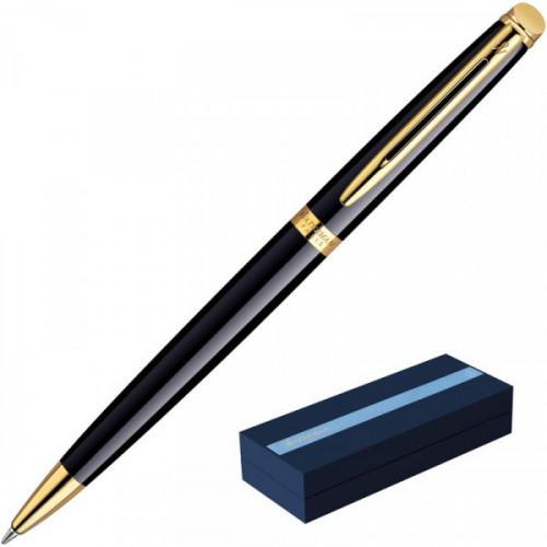 Ручка шариковая Waterman Hemisphere синяя черный с позолотой корпус