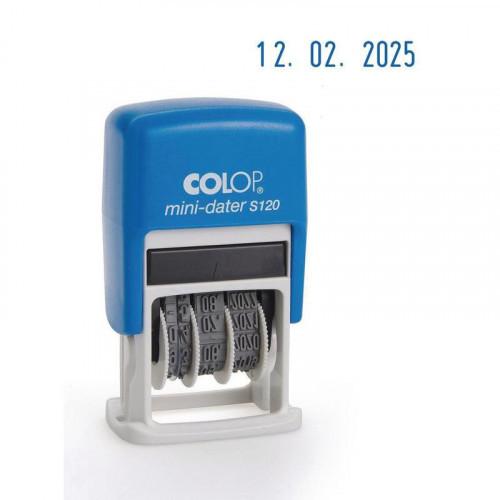 Датер автоматический Colop S120 Bank шрифт 3,8 мм месяц цифрами мини пластиковый