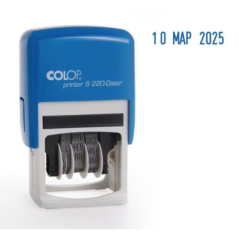 Датер автоматический пластиковый Colop S220 шрифт 4 мм буквенное обозначение месяца