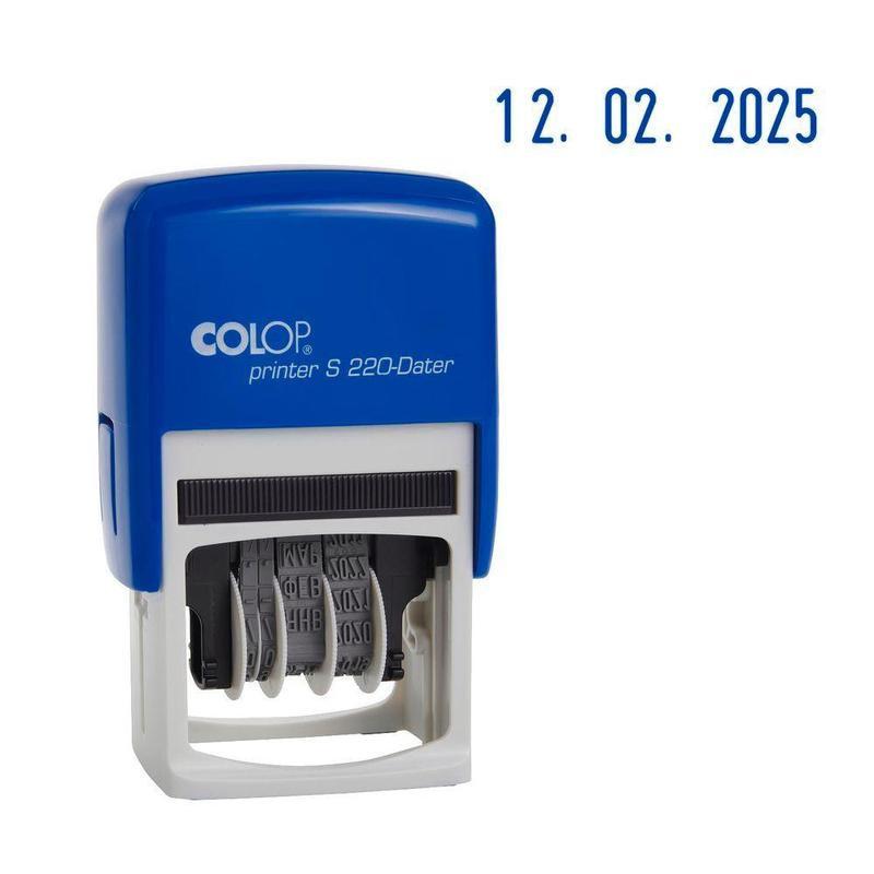 Датер автоматический пластиковый Colop S220 Bank шрифт 4 мм месяц обозначается цифрами