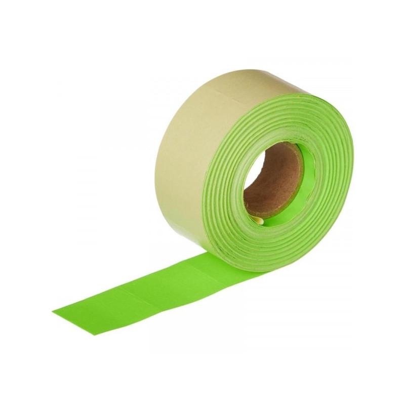 Этикет-лента 29х28 мм зеленая прямоугольная 700 штук/рулон 10 рулонов/упаковка