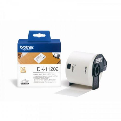 Картридж к принтеру Brother DK 11202 транспортная наклейка 62х100 мм 300 штук