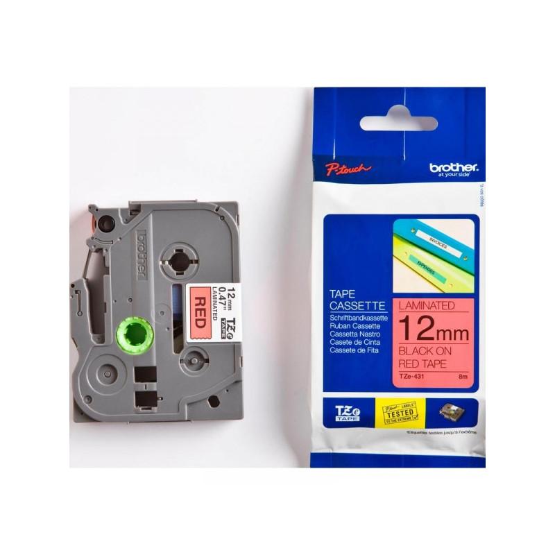 Картридж к принтеру Brother TZ/TZe-431 12 мм х8 м черный/красный пластик