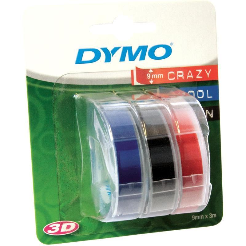 Картридж к принтеру DYMO Omega 9 мм х 3 м 3 рулона белый/черный синий красный