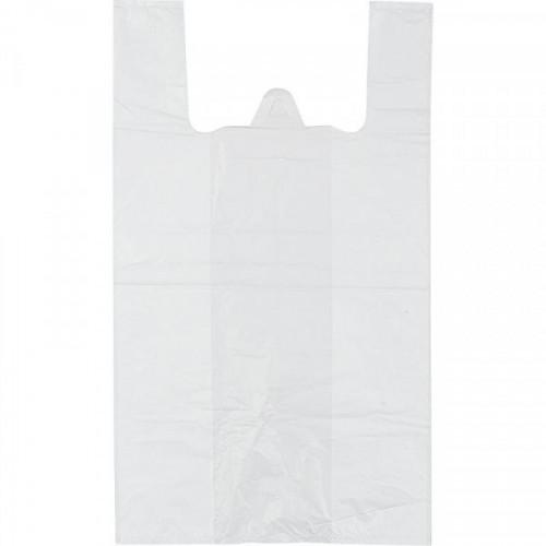 Пакет-майка ПНД белый 9 мкм (16+12х30 см, 100 штук в упаковке)