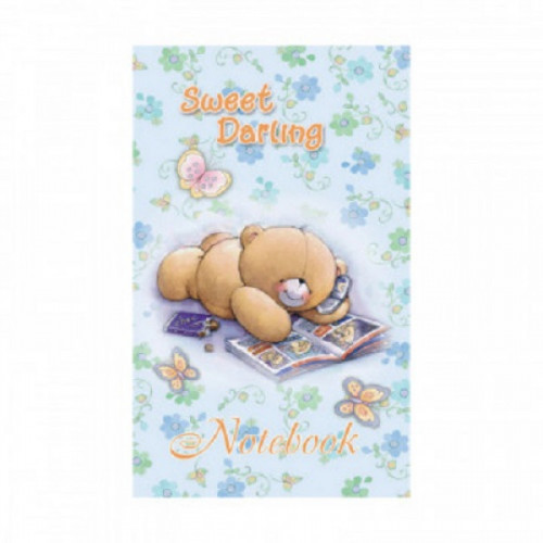 Блокнот А7,40л,клетка,скрепка,обл.мел.карт. Sweet Darling Б40А7М186/6 2вида