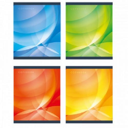 Тетрадь общая А5,60л,кл,скоб,блок-офсет-2 Attache Сфера син/зел/желт/красс