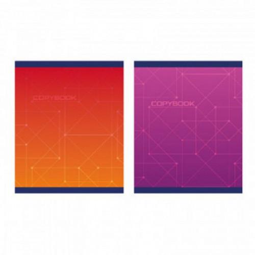 Тетрадь общая А5,96л,кл,скоб,блок-офсет-2 Attache Alpha фиолет/красвассор