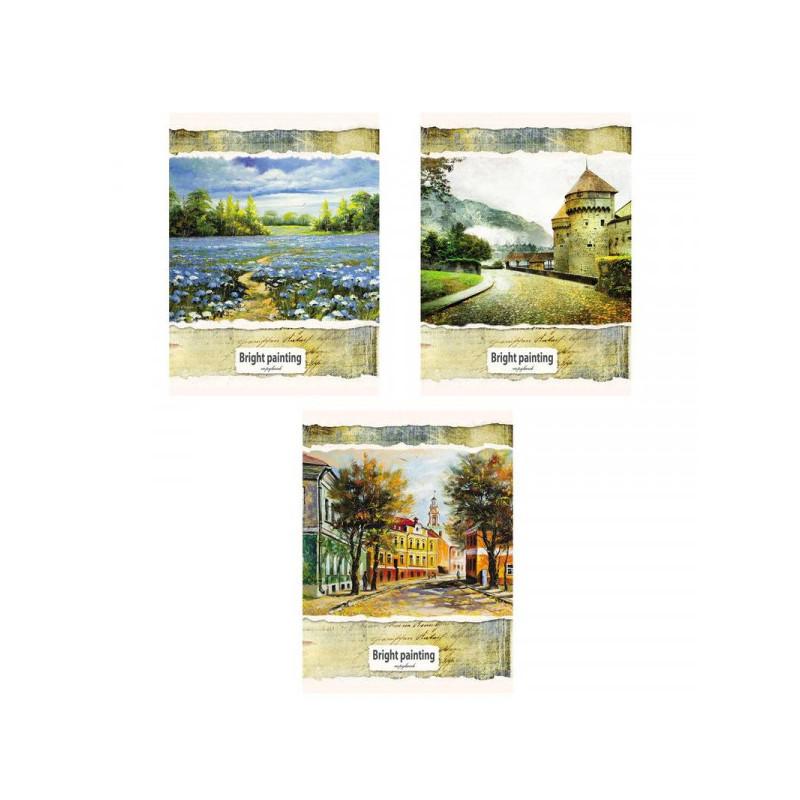 Бизнес-тетрадь A4 96 листов, Проф-пресс Классические пейзажи в ассортименте в клетку на спирали (210х270 мм)