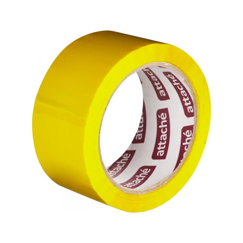 Клейкая лента упаковочная ATTACHE 48мм х 66м 45мкм желтая