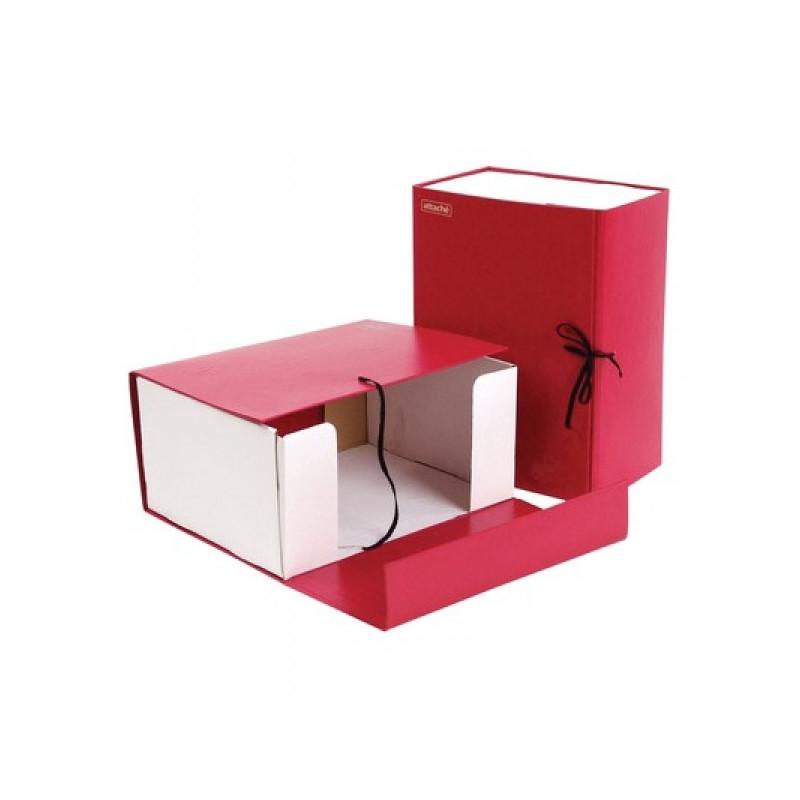 Короб архивный Attache А4 бумвинил красный складной 15 см 2 хлопачтобумажные завязки