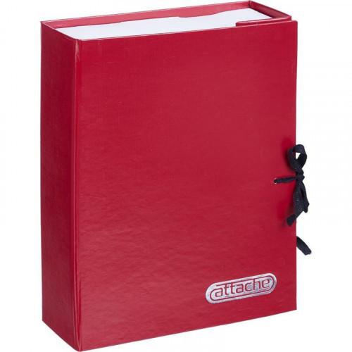 Короб архивный Attache А4 бумвинил красный складной 7 см бумвинил 2 хлопчатобумажные завязки
