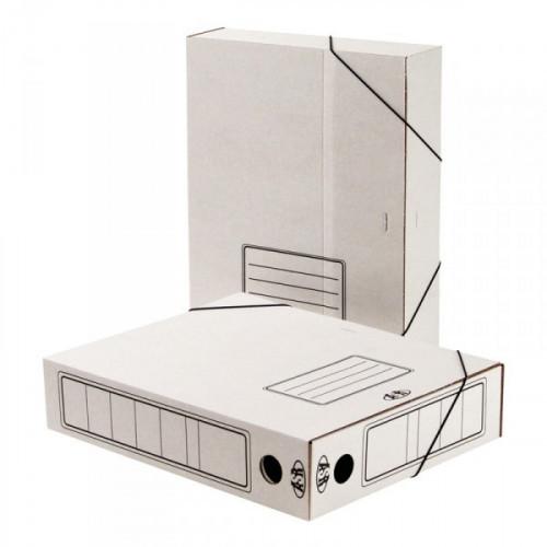 Короб архивный Attache А4 гофрокартон белый складной 75 мм 2 резинки