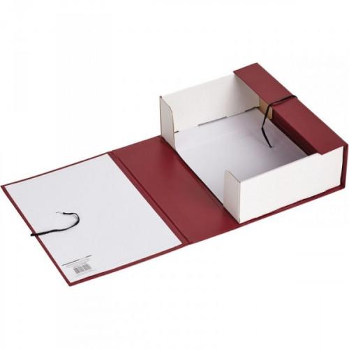 Короб архивный Attache А4 бумвинил красный складной 12 см 2 хлопчатобуажные завязки)