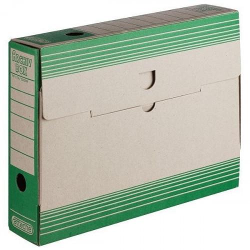 Короб архивный Attache картон зеленый 75х256х322 мм