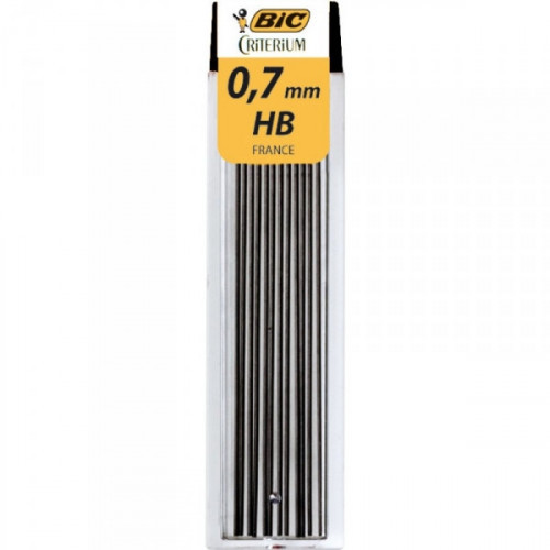 Стержни микрографические BIC LEADS 0,7 мм 12 грифелей