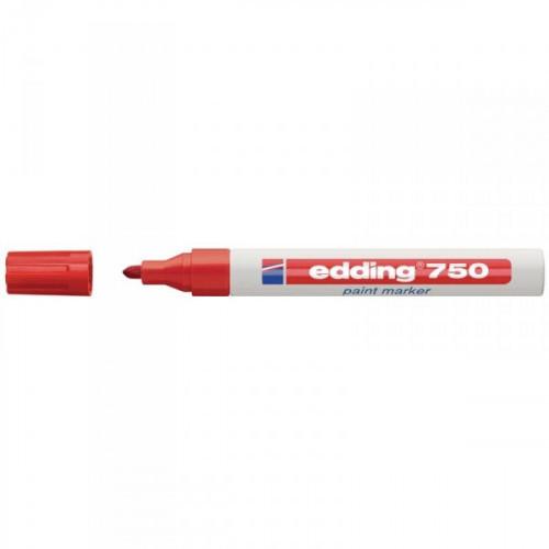 Маркер пеинт лаковый Edding E-750/2 красный с толщиной линии 2-4 мм