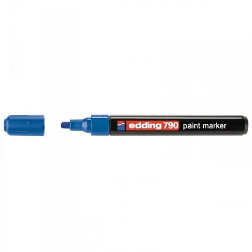 Маркер пеинт лаковый Edding E-790/3 синий с толщиной линии 2-4 мм