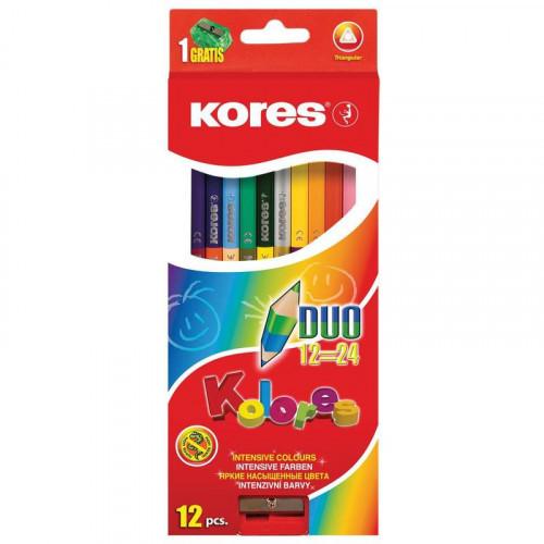 Карандаши цветные Kores 24 цвета с точилкой