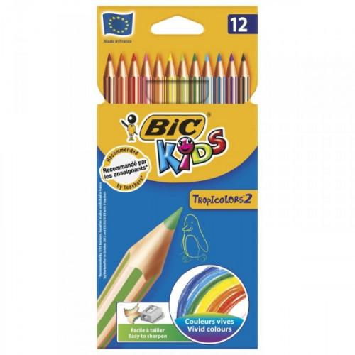 Карандаши цветные BIC Tropicolors 12 цветов
