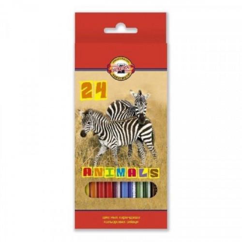 Карандаши цветные Koh-I-Noor Animals 24 цвета
