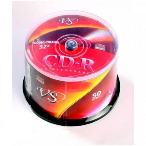 Носители информации CD-R VS 700MB 52x Cake 50 штук