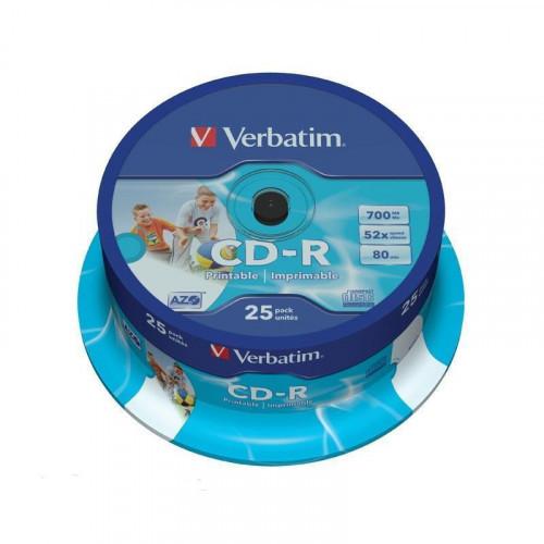 Носители информации Verbatim CD-R 700Mb 52x Cake 25 штук