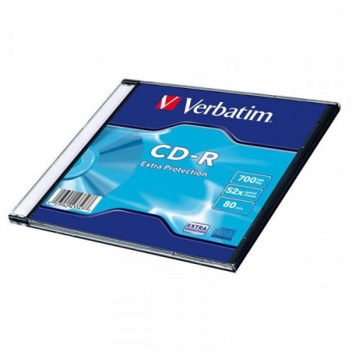 Носители информации Verbatim CD-R 700Mb 52x slim 1 штука