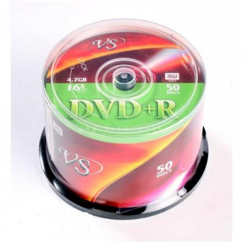 Носители информации DVD+R VS 4,7GB 16x Cake 50 штук