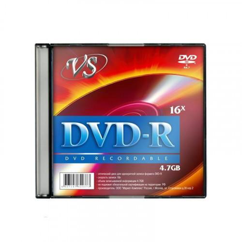 Носители информации DVD-R VS 4,7GB 16x Slim 5 штук