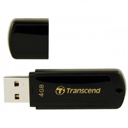 Флеш-память Transcend JetFlash 350 4Gb USB 2.0 черная