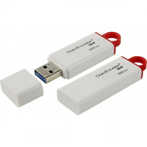 Флеш-память Kingston DataTraveler G4 32Gb USB 3.0 белая