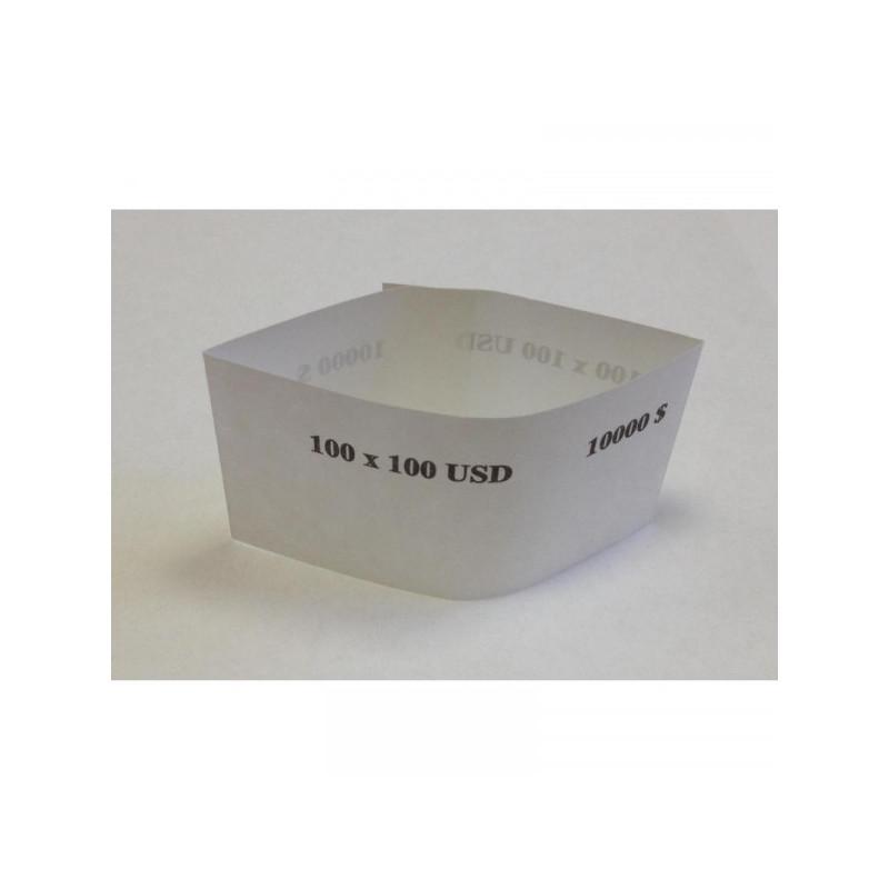 Кольцо бандерольное номинал 100$ 500 штук в упаковке