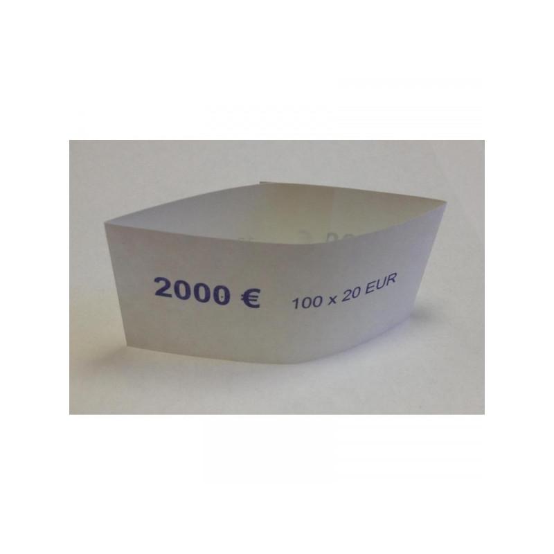 Кольцо бандерольное номинал 20 евро 500 штук в упаковке