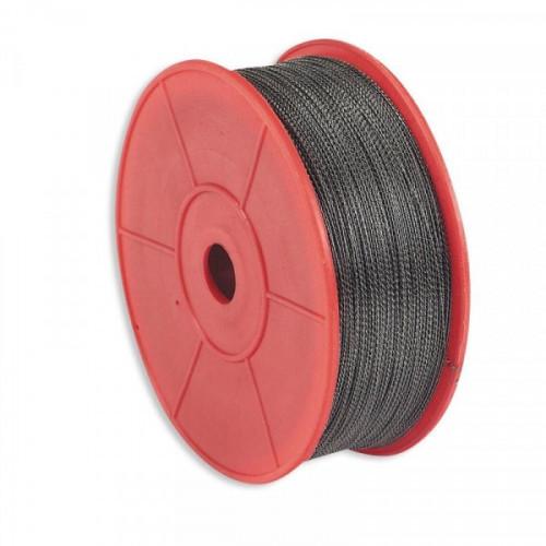 Проволока для опломбирования металлическая витая 100 м диаметр 0,65 мм.