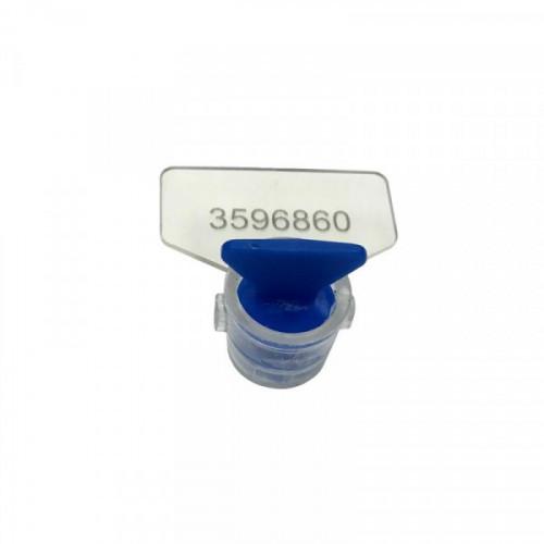 Пломба роторного типа пластиковая КПП-3-2030 (ПК91-РХ3) синяя 100 штук в упаковке