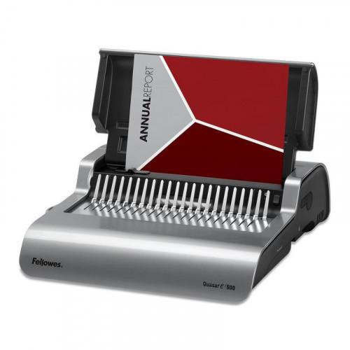 Брошюровщик Fellowes QUASAR-E до 297 мм до 20 листов до 500 листов электрический пластмассовые пружины