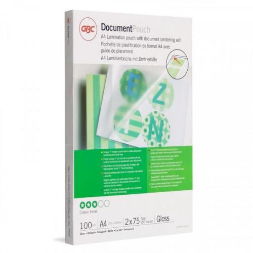 Заготовка для ламинирования А4 2x75 мкм глянец 100 штук/упаковка