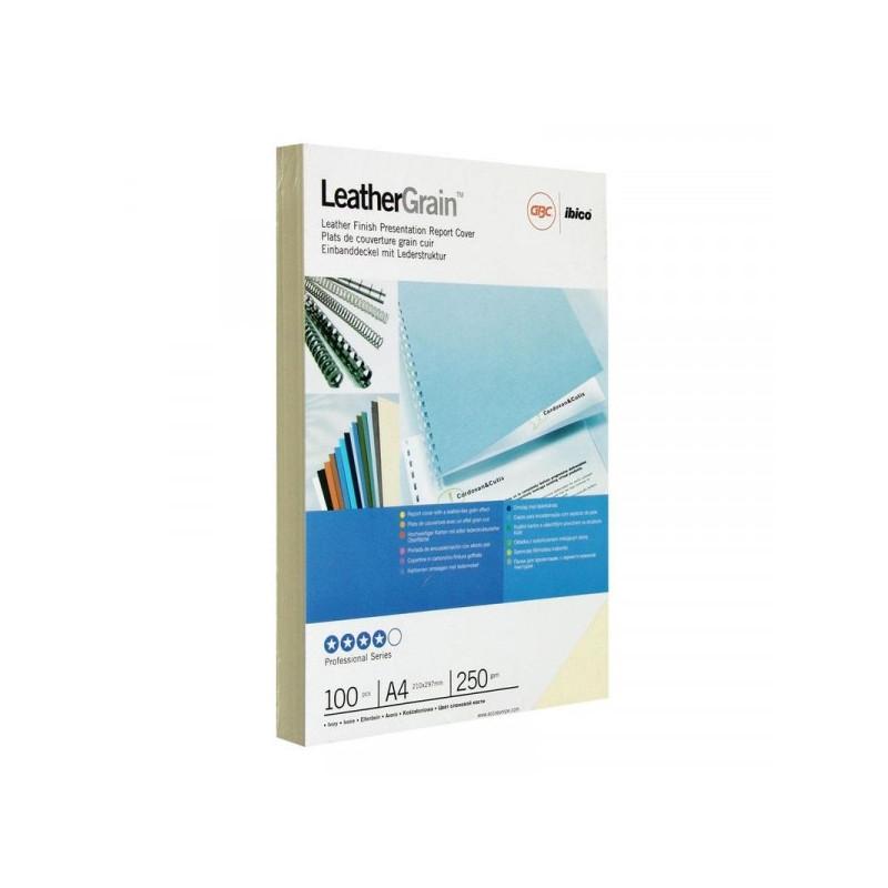 Обложки для переплета картонные 100 штук/упаковка слоновая кость кожа 250 г/м2 А4