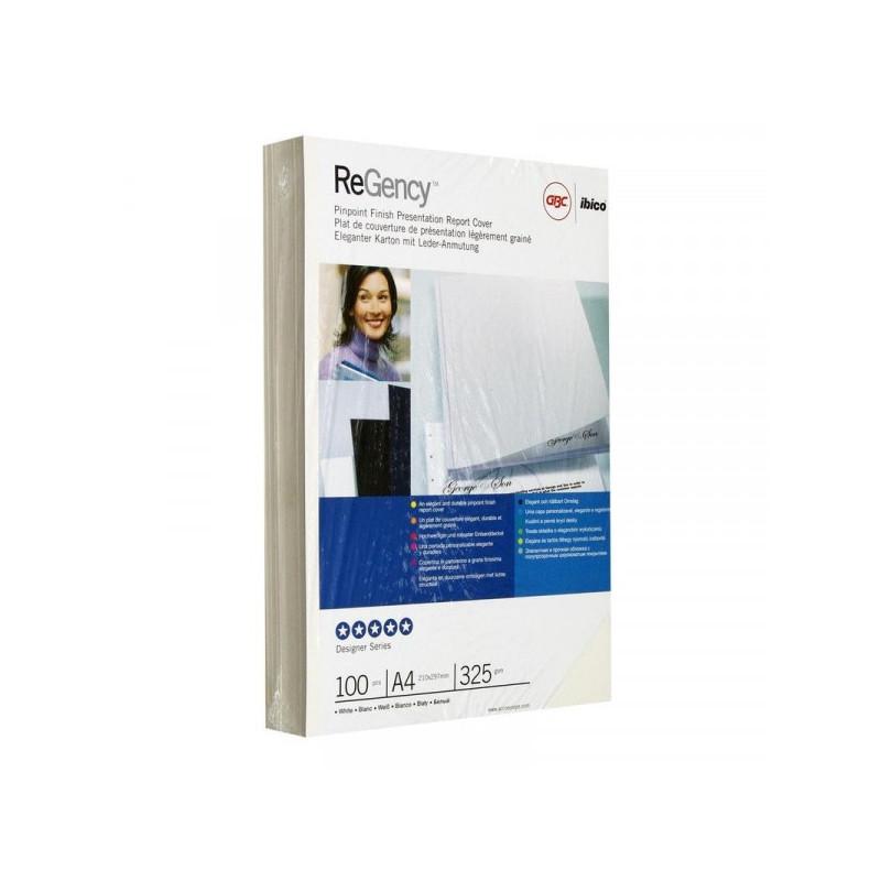 Обложки для переплета картонные А4 325 г/м2 100 штук/упаковка белые