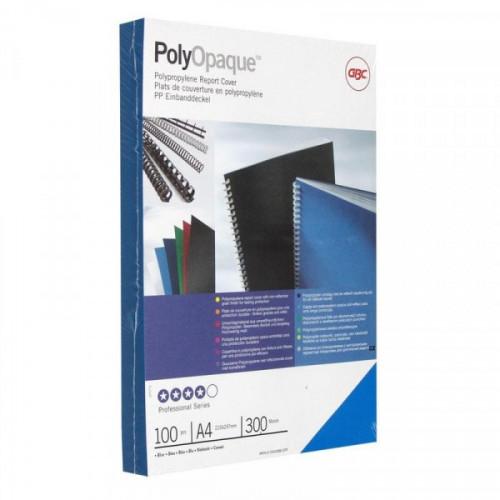 Обложки для переплета пластиковые непрозрачные синие 100 штук/упаковка А4 300 мкм