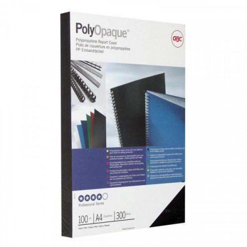Обложки для переплета пластиковые непрозрачные черные 100 штук/упаковка А4 300 мкм