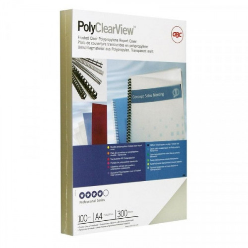 Обложки для переплета пластиковые полупрозрачные 100 штук/упаковка А4 300 мкм