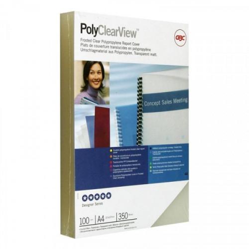 Обложки для переплета пластиковые полупрозрачные матовые 100 штук/упаковка А4 350 мкм