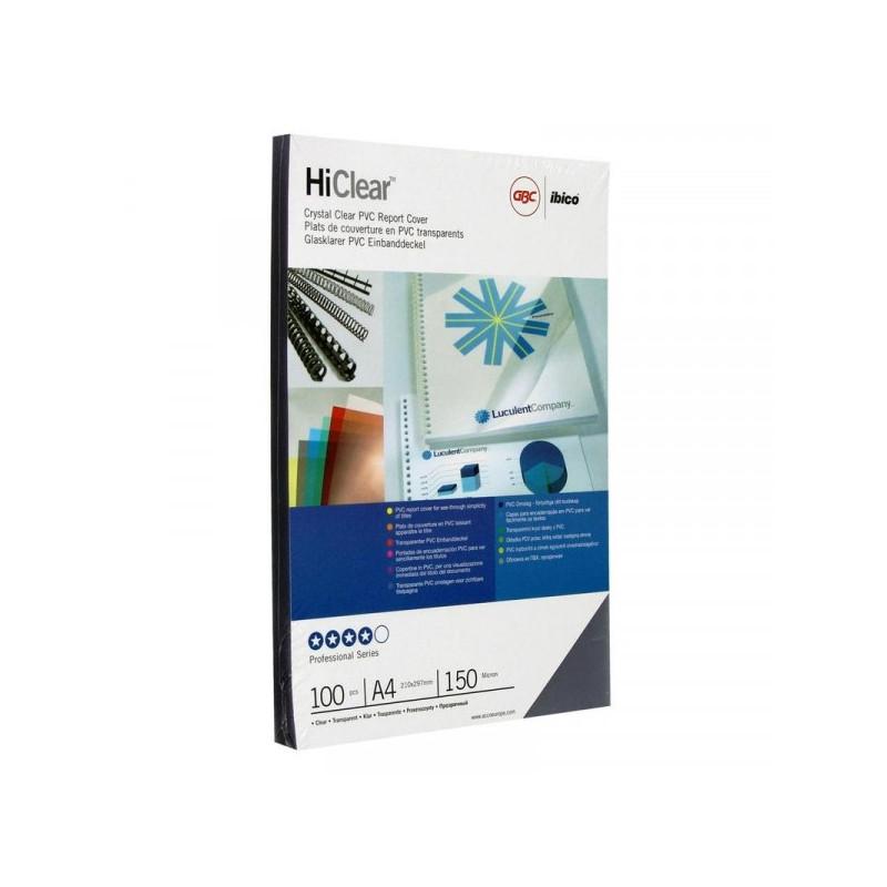Обложки для переплета пластиковые прозрачные 100 штук/упаковка А4 150 мкм