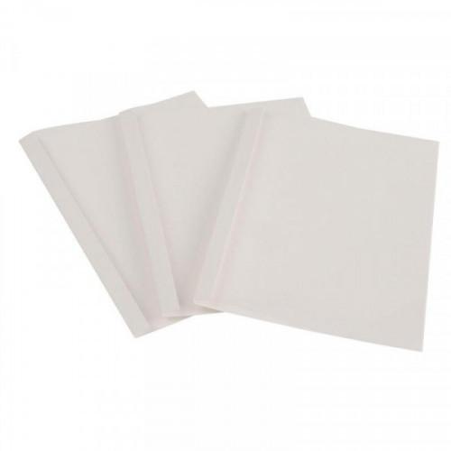 Обложки для переплета картонные белые картонные/пластиковые 6 мм 100 штук/упаковка