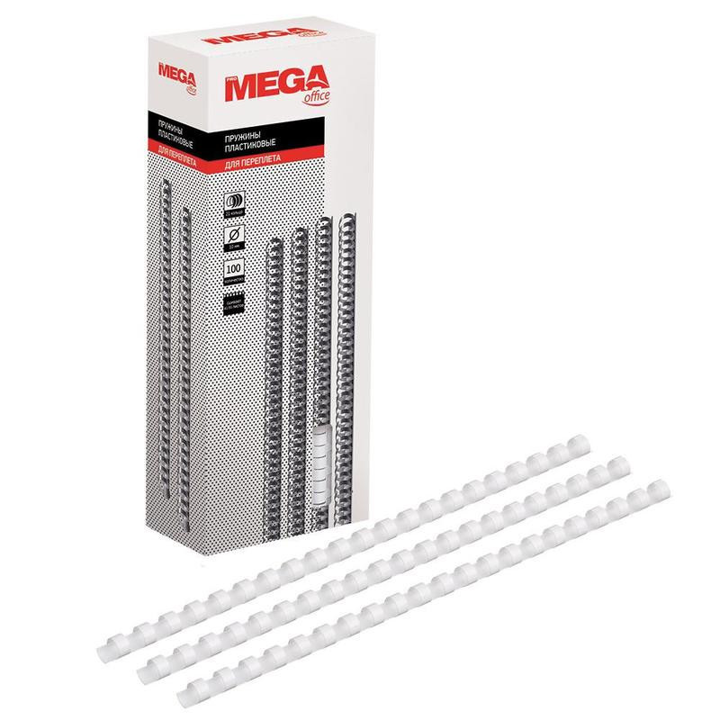 Пружины для переплета пластиковые 10 мм белые 100 штук/упаковка