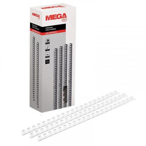 Пружины для переплета пластиковые  10 мм прозрачные 100 штук/упаковка
