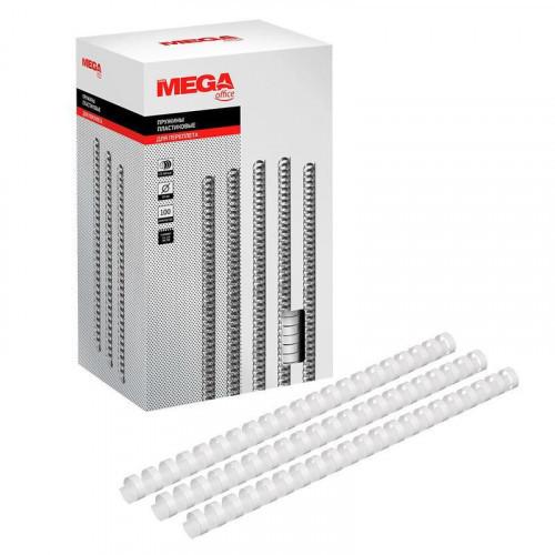 Пружины для переплета пластиковые 19 мм белые 100 штук/упаковка